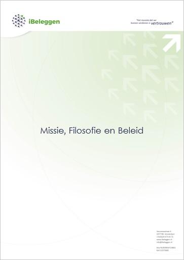 Missie Filosofie Beleid voorblad